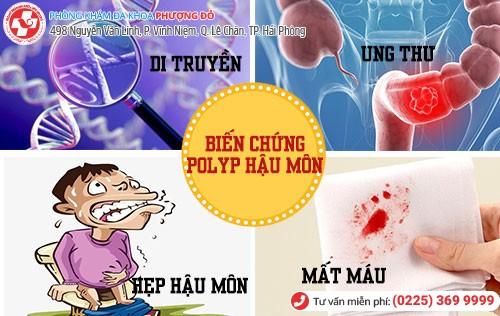 biến chứng polyp hậu môn