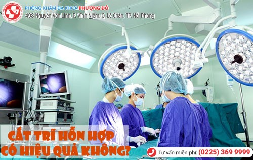 cắt trĩ hỗn hợp