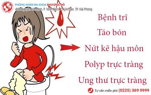 Đi vệ sinh ra máu là bệnh gì