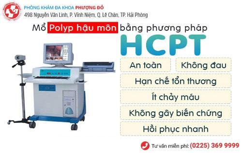 Phương pháp HCPT vượt trội điều trị polyp hậu môn