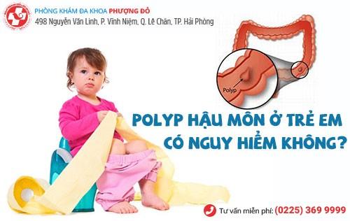polyp hậu môn ở trẻ em