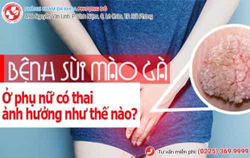 bệnh sùi mào gà ở phụ nữ có thai