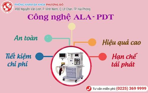 Công nghệ ALA – PDT cải tiến mới của Mỹ