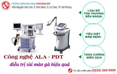 Công nghệ ALA – PDT điều trị sùi mào gà hiệu quả