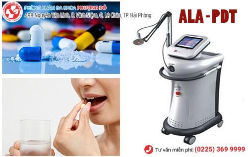Điều trị bệnh bằng thuốc và phương pháp ALA – PDT