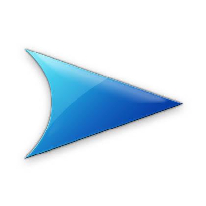icon mũi tên xanh