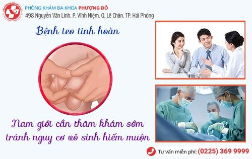 Teo tinh hoàn sẽ được chữa khỏi nếu thăm khám sớm