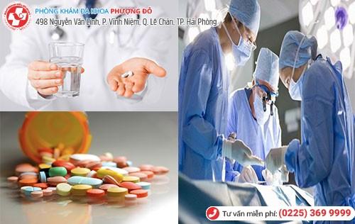 Điều trị bằng nội khoa và ngoại khoa