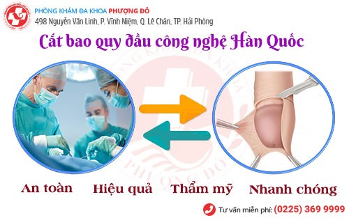 Kỹ thuật cắt bao quy đầu công nghệ Hàn Quốc