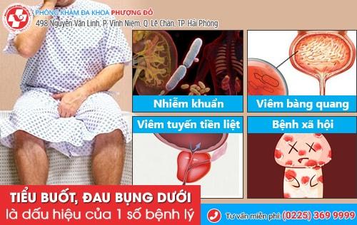 tiểu buốt và đau bụng dưới