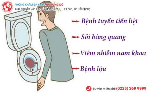 Nguyên nhân tiểu ra máu ở nam giới