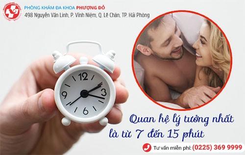 Thời gian quan hệ lý tưởng nhất là từ 7 – 15 phút