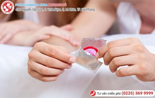 Sử dụng bao cao su kéo dài thời gian quan hệ