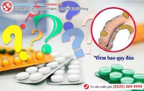Thuốc kháng sinh viêm bao quy đầu