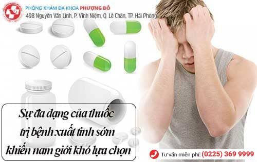 Hướng dẫn chọn thuốc trị bệnh xuất tinh sớm
