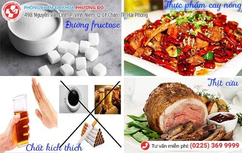 Thực phẩm nên kiêng