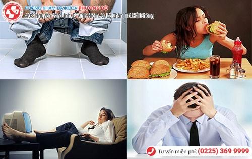 Nguyên nhân bệnh trĩ ngoại