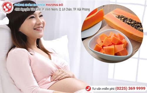 ăn đu đủ khi mang thai