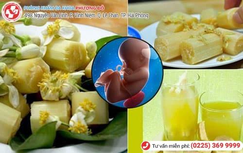 ăn mía hấp chữa thai lưu được không