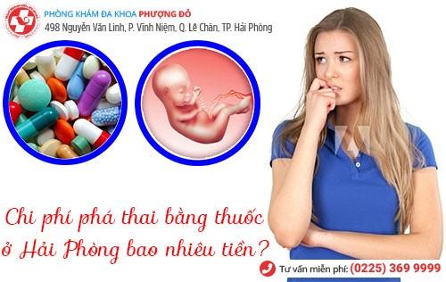 phá thai bằng thuốc ở Hải Phòng