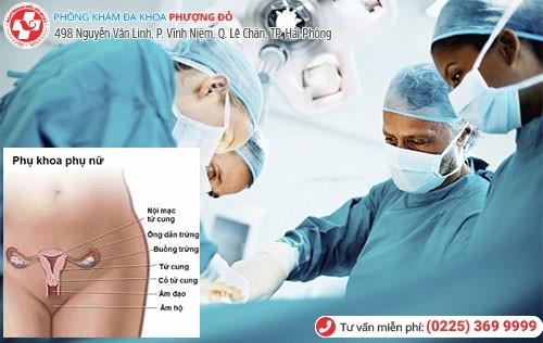 Cách trị viêm nhiễm phụ khoa bằng ngoại khoa