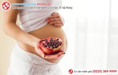 có thai ăn lựu được không