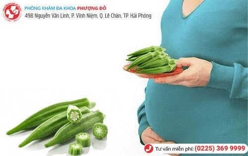 có thai ăn đậu bắp được không