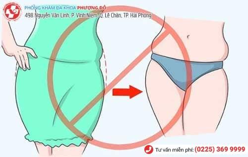 Thường xuyên mặc quần lót chật là nguyên nhân khiến gái bị viêm vùng kín