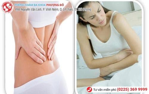 đau bụng dưới đau lưng