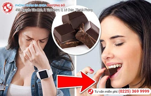 đau bụng kinh ăn socola
