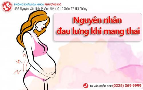 Nguyên nhân đau lưng khi mang thai