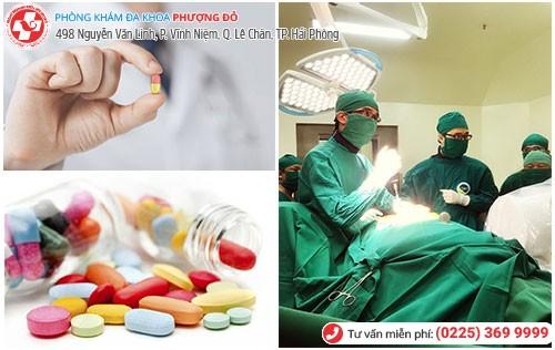 Điều trị khí hư bất thường bằng nội khoa và ngoại khoa