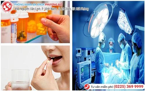 Điều trị bệnh bằng nội khoa và ngoại khoa