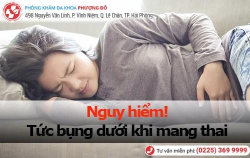 nguy hiểm hiện tượng tức bụng dưới khi mang thai