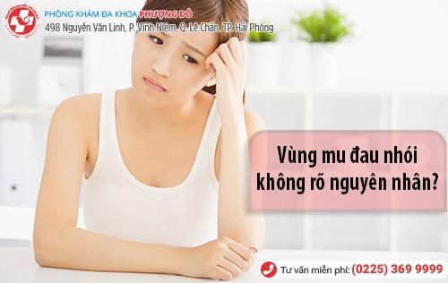 Nguyên nhân gây đau nhói vùng mu