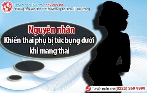 nguyên nhân khiến thai phụ bị tức bụng dưới khi mang thai