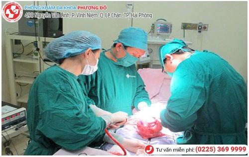 Phẫu thuật cắt bỏ khối u nang tử cung tại Đa Khoa Phượng Đỏ