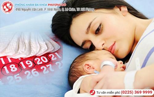 rong kinh sau sinh thường do rối loạn nội tiết tố