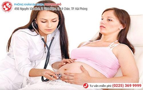 Mẹ bầu bị viêm nhiễm phụ khoa nên thăm khám kịp thời