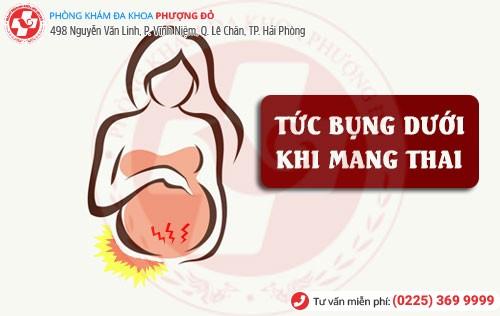 Tức bụng khi mang thai