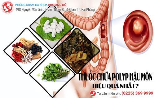 thuốc chữa polyp hậu môn