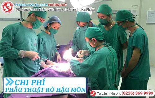 chi phí phẫu thuật rò hậu môn