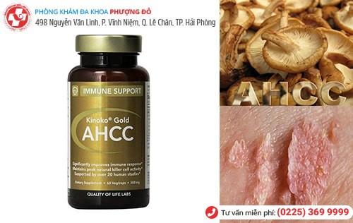 Thuốc AHCC được chứng minh điều trị sùi mào hiệu quả