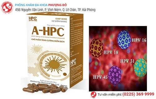 Thuốc AHPC được sử dụng điều trị sùi mào gà